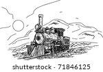vector    vintage steam engine... | Shutterstock .eps vector #71846125