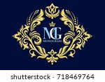 vector decorative frame....   Shutterstock .eps vector #718469764