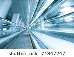 diminishing moving escalator in ... | Shutterstock . vector #71847247