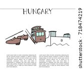 welcome to hungary design... | Shutterstock .eps vector #718474219