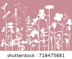 vector background with drawing... | Shutterstock .eps vector #718475881