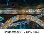 rush hour traffic on a city... | Shutterstock . vector #718477561