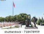 canakkale martyrs' memorial is...   Shutterstock . vector #718478959