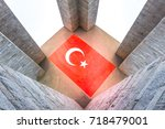 canakkale martyrs' memorial is...   Shutterstock . vector #718479001
