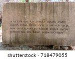 canakkale martyrs' memorial is...   Shutterstock . vector #718479055