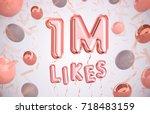 1m  1million celebration like... | Shutterstock . vector #718483159