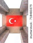 canakkale martyrs' memorial is...   Shutterstock . vector #718483375