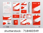 stationary corporate brand... | Shutterstock .eps vector #718483549