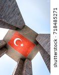 canakkale martyrs' memorial is...   Shutterstock . vector #718485271