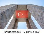 canakkale martyrs' memorial is...   Shutterstock . vector #718485469