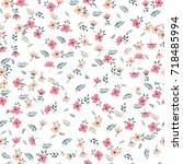 cute floral pattern of small... | Shutterstock .eps vector #718485994