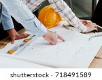 team engineers working with... | Shutterstock . vector #718491589