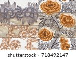 abstract home decorative art... | Shutterstock . vector #718492147