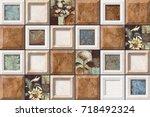abstract home decorative art... | Shutterstock . vector #718492324