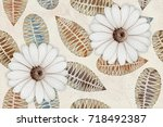 abstract home decorative art... | Shutterstock . vector #718492387