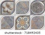 abstract home decorative art...   Shutterstock . vector #718492435