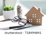 business  finance  saving money ... | Shutterstock . vector #718494841
