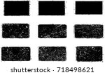 grunge post stamps collection ... | Shutterstock .eps vector #718498621