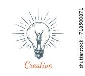creative businessman. vector... | Shutterstock .eps vector #718500871