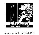 beauty salon   retro ad art... | Shutterstock .eps vector #71850118