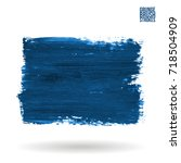 blue brush stroke and texture.... | Shutterstock .eps vector #718504909