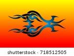 tribal tattoo | Shutterstock .eps vector #718512505