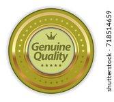 genuine quality badge | Shutterstock .eps vector #718514659