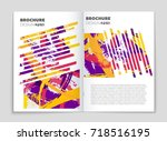 abstract vector layout... | Shutterstock .eps vector #718516195