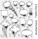comic speech bubbles   vector... | Shutterstock .eps vector #718517011