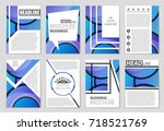 abstract vector layout... | Shutterstock .eps vector #718521769