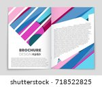 abstract vector layout... | Shutterstock .eps vector #718522825