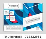abstract vector layout... | Shutterstock .eps vector #718522951