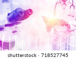 medical science research and... | Shutterstock . vector #718527745