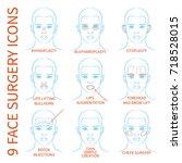vector illustration  set of 9... | Shutterstock .eps vector #718528015