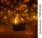 happy diwali. indian festival... | Shutterstock .eps vector #718530481
