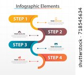 business timeline process chart ... | Shutterstock .eps vector #718545634