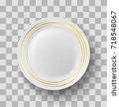 vector white ceramic plate with ... | Shutterstock .eps vector #718548067