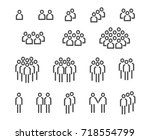 team icon set on white... | Shutterstock .eps vector #718554799