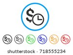 credit rounded icon. style is a ... | Shutterstock .eps vector #718555234