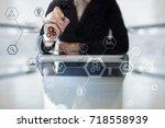 business structure diagram ... | Shutterstock . vector #718558939
