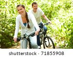 photo of happy woman riding... | Shutterstock . vector #71855908