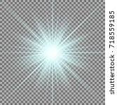 sunlight with lens flare effect ... | Shutterstock .eps vector #718559185