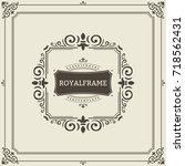 frame template. vintage... | Shutterstock . vector #718562431