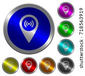 free wifi hotspot icons on... | Shutterstock .eps vector #718563919