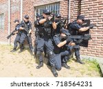 Small photo of FOSHAN, CHINA - August 16, 2017:Armed police armed with brand-new gear are training to fight terrorists in order to deal with emergencies.