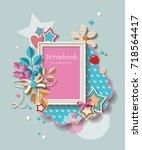 framework for invitation or... | Shutterstock .eps vector #718564417