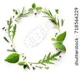 seasoning herb  restaurant menu ...   Shutterstock . vector #718566229