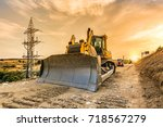 urbanizing a rural area in... | Shutterstock . vector #718567279