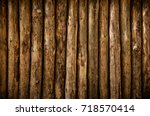 A Log Wall. Wooden Wall From...
