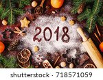 Happy New Year 2018 Written On...